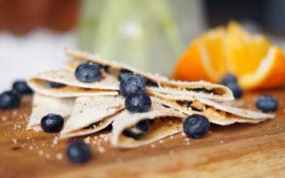 Blueberry-Peanut Butter Quesadillas