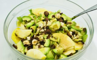 Mozzarella Salad with Nuts and Avocado